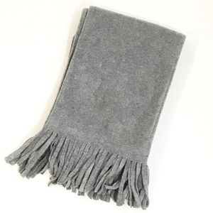 5 For $15 Gray Fleece Scarf with Fringe  🧣